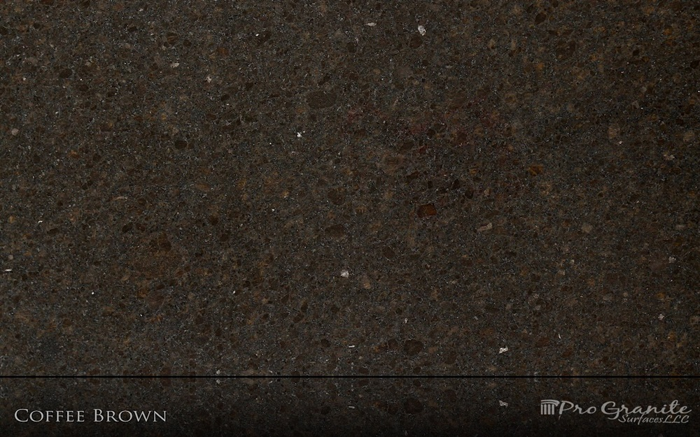 Coffee Brown Granite : Progranite surfaces kitchen and bathroom countertops